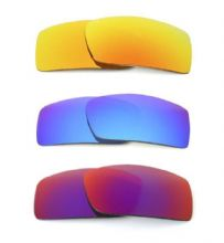 NEW POLARIZED CUSTOM FIRE/BLUE/RED LENS FOR OAKLEY GASCAN SUNGLASSES